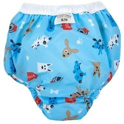 Kushies Potty Training Pants - Small - Woof Blue