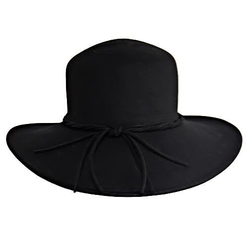floppy wide brimmed hat. Black Floppy Wide Brim Hat