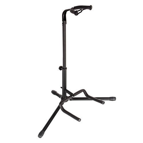 Ollieroo® Adjustable Folding Universal Black Tripod Guitar Stand, Single Stand