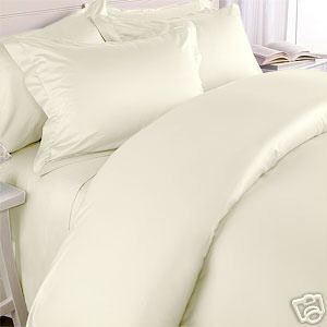 Solid Ivory with Woven Dots 600 Thread Count Full/queen Size Duvet Cover Set 100 % Egyptian Cotton with Matching Pillow Shams By Sheetsnthings