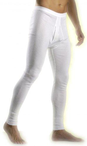 HERMKO 3540 3er Pack Herren lange Unterhosen mit Eingriff aus 100% Baumwolle in Feinripp, Größe:8 (XXL);Farbe:marine