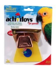 Image of JW Pet Company Insight Bell With Pendulot Large Bird Toy Assorted Colors (B0006JM29W)