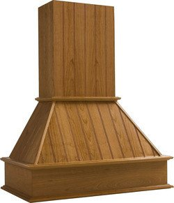 Omega National 42 Inch W Nantucket Wooden Wall Chimney Range Hood, 250-650 Cfm, Straight Valence, Unfinished, Maple