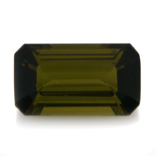Natural Africa Green Tourmaline Loose Gemstone Emerald Cut 9*5m 1.45cts VS Grade
