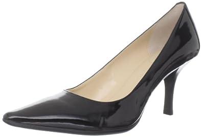 (快抢)Calvin Klein CK美女时尚高跟鞋Dolly Two Tone Patent Pump 亮灰 $43.99