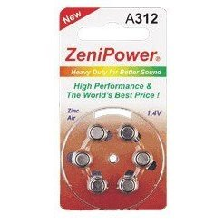 120 Hearing Aid Batteries, Size 312 Zenipower in Stock. Ships From United States. Expedited Shipping Available