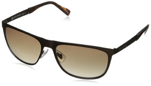 Boss By Hugo Boss Men'S Bo0096S Rectangular Sunglasses,Semi Matte Brown,57 Mm