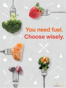 Choose Wisely Fruit and Vegetables on Forks Poster (Fruit And Vegetables Posters compare prices)