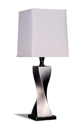 Coaster Twisted Base Table Lamp in Silver(Set of 2 Lamps)