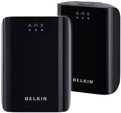 Belkin PowerLine AV 200 - Adaptador de comunicación por línea eléctrica (200 Mbit/s, WPA-AES, Ethernet), negro