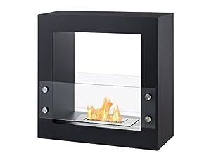 Ignis Tectum Mini Black Freestanding Ventless Ethanol Fireplace