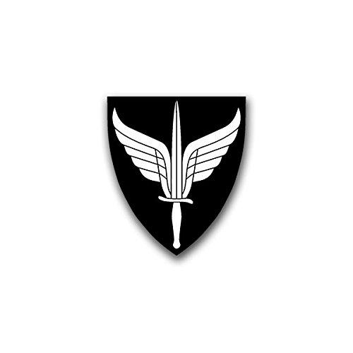 Aufkleber / Sticker - FSK Forsvarets Spesialkommando Insignia Norwegian Forces Unit Flügel Schwert Wappen Emblem Abzeichen passend für VW Golf Polo GTI BMW 3er Mercedes Audi Opel Ford (7x6cm)#A1459