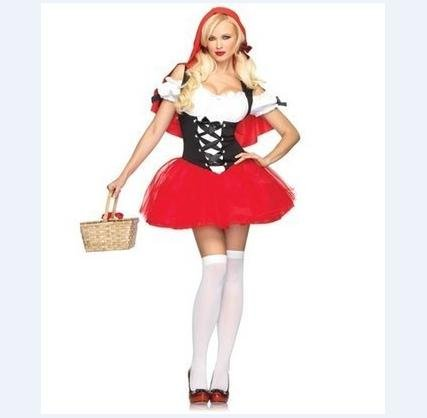 Cosplay adult Red Riding Hood costume [with a special Bracelet: choose from! ( pretty popular Halloween costume )