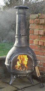 Castmaster Calico Cast Iron Chiminea Pewter