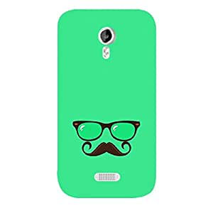 Skin4gadgets Hipster Pattern- Glasses, Mustache, Color - Spring Green Phone Skin for CANVAS LIGHT (A92)
