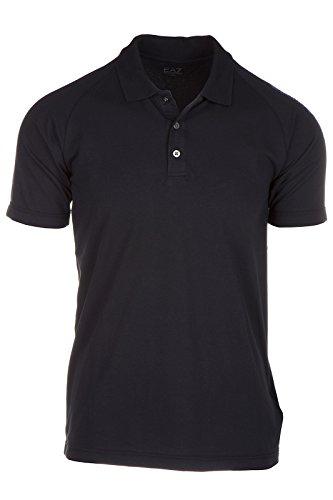 Emporio Armani EA7 polo t-shirt maglia maniche corte uomo nero EU M (UK 38) 6XPF55 PJ03Z 1200