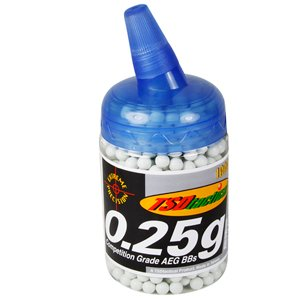 TSD Competition Grade AEG 6mm plastic airsoft BBs, 0.25g, 1000 rds, white