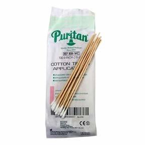 Cotton Applicators Puritan Non Sterile 6'' 100/pkg