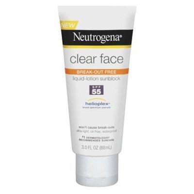 clear face break liquid sunscreen