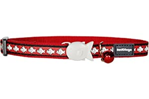 Red Dingo Reflective Cat Collar, 12 mm, Neck Size 20 - 32 cm, Red