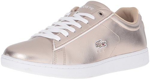 Lacoste Women's Carnaby Evo 316 2 Spw Fashion Sneaker, Grey, 7 M US
