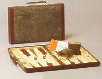 15 inches  Lizard Style Attache Backgammon