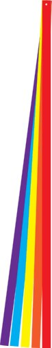 In the Breeze Colorful Kite Tails, 6-Feet, Set of 5
