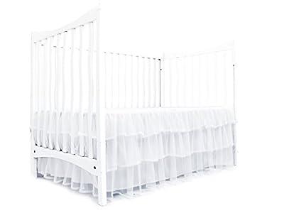 Tadpoles Tulle Triple Layer Crib Skirt, White