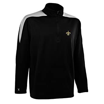 NFL Mens New Orleans Saints 1 2 Zip Jersey Pullover by Antigua