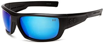 Under Armour Rumble Satin Black Frame W/ Black Rubber / Gray Polarized W/ Blue Multiflection Lens