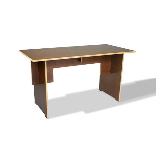 In Modern 200010-009 Linear Cocoa 46&quot; W Desk with No-Tool-Assembly