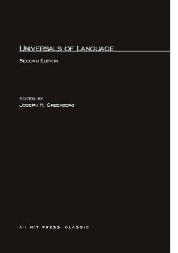 Universals of Language (MIT Press Classics)