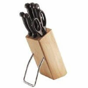 Kitchen craft six piece knife set and wooden knife block for Kitchen craft knife set