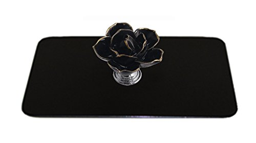 Toaster Tops A3001-4B Black Flower Toaster Top, Black (Flower Toaster compare prices)