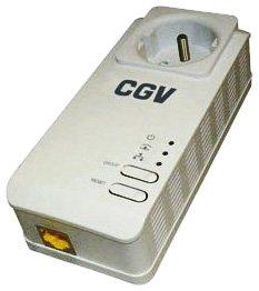 CGV CPLine 2P-500 Adaptateur CPL HD Homeplug AV avec prise de courant intégré 500 Mbps
