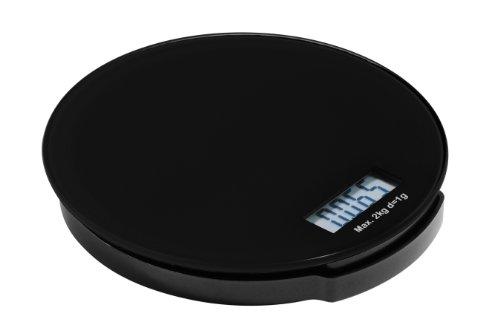 Premier Housewares 0807251 Zing Balance de Cuisine Électronique en Verre Base ABS Noir 2 kg