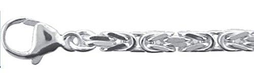 Damen Schmuck Silber Collier / Halskette Königskette aus 925 Sterling Silber ( 50 cm ) ( 3,4 mm )