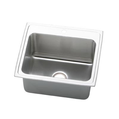 Elkay Pla2522121 1-Hole Pursuit Stainless Steel 25-Inch X 22-Inch Self Rimming Single Basin Utility Sink front-1016580