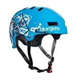 Bluegrass Super Bold Skate Helmet Road Signs Matt Cyan Medium 55-58cm ã35.99