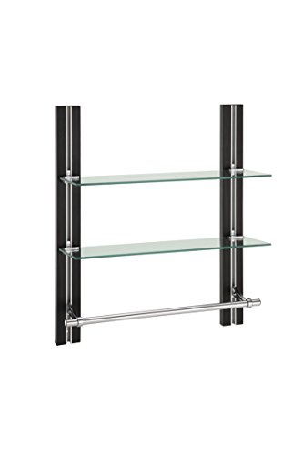 Organize It All 12771W1P 2-Tier Glass Shelf with Towel Bar (Glass Shelves Tier compare prices)