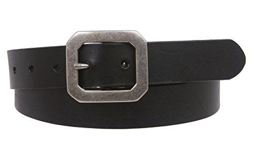 """1 1/8"""" Snap On Oil Tanned Skinny Vintage Cowhide Leather Belt Size: 36 Color: Black"""