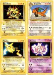 Pokemon Movie Promo Card Set of 4 Electabuzz, Dragonite, Pikachu, and Mewtwo
