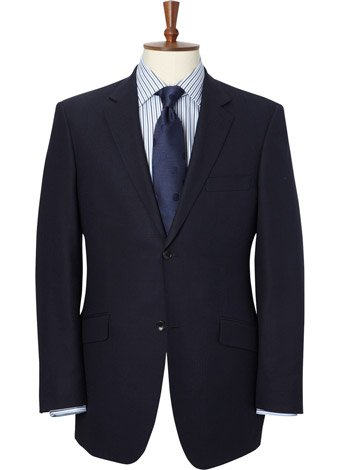 Austin Reed Contemporary Fit Navy Hopsack Suit REGULAR MENS 44