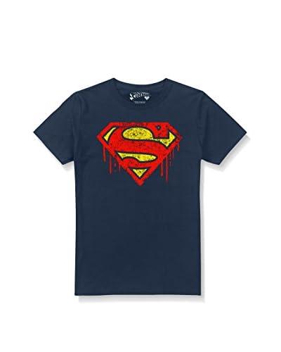 ZZ-DC Comics Camiseta Manga Corta Superman Drips