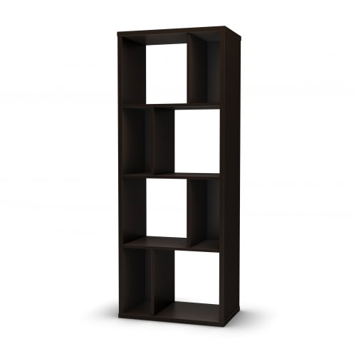 South Shore Reveal Collection Bookcase, Chocolate