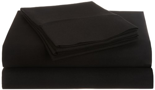 Impressions 1500 Series Wrinkle Resistant Twin Xl 3-Pc Sheet Set Solid, Black front-603943