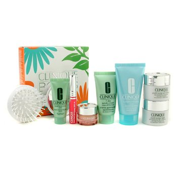 Bonus Travel Set: Scrub + Liquid Soap + Day Cream + Night Cream + Eye Cream + Body Cream + Lipgloss + Brush