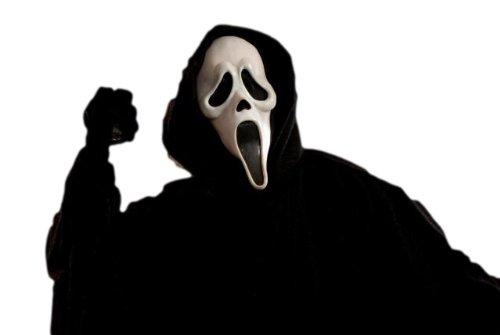 スクリーム コスチューム フード付!!(オリジナルコスプレシリーズ)/恐怖のスクリームマスクとブラック マントのセット!! パーティー♪ イベント♪ に!