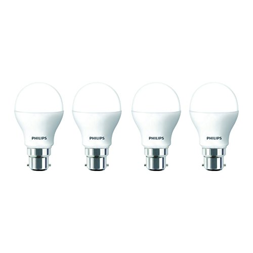 2.7W B22 Round LED Bulb (Cool Day Light, Pack of 4)
