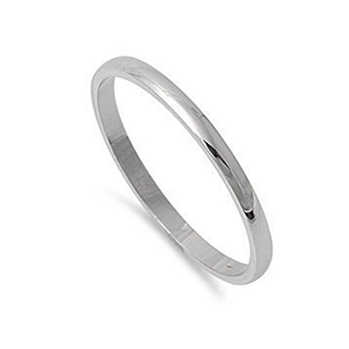 2mm Stainless Steel Comfort Fit Unisex Wedding Band Ring Sizes 5, 6, 7, 8, 9, 10, 11, 12, 13 w/ Gift Pouch (10) (Initials Ring compare prices)